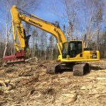 CD Blue Forestry - Komatsu 200LC with Mulching Attachment