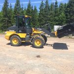 C.D Blue Forestry - Deere 244K with Sweeper Attachment
